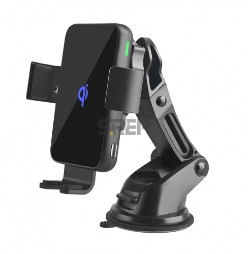 Smart Wireless Charger Car Mount Fashionable Automatic Clamping Style CF-T1